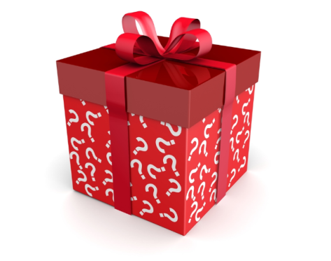 Christmas gift questionmark