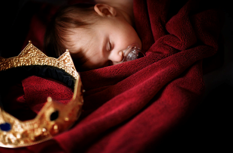 Baby and crown