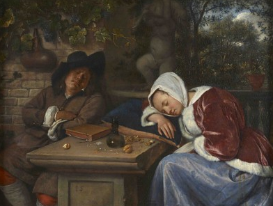 Sleeping Couple by Jan Steen