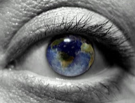 Earth in eyeball
