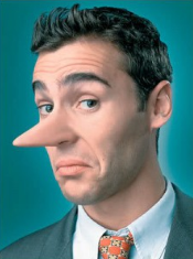 Man with long nose