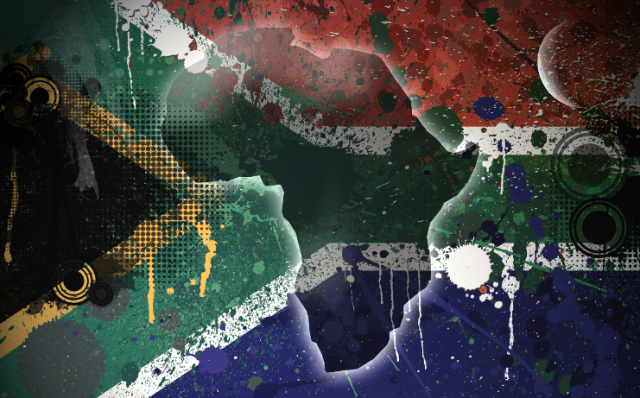Faded South African flag